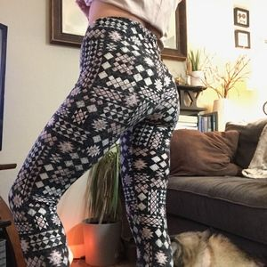 DerekHeart print leggings medium *stretchy*